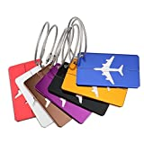 Touch Life Aluminum Travel Luggage Tags Baggage Tags Suitcase ID Lables 7 Color