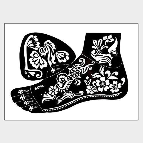 Auge Einfach Kostüm Linken Im - Fußpersönlichkeit Tattoo wasserdicht dauerhafte Concealer vernarbt lackiert Tattoo Creme hohlen linken Fuß geeignet für Konzerte, Urlaub am Meer, Festivals, Bars, etc. @ S408L_17 * 24.5CM
