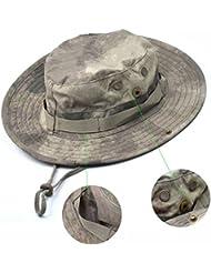 Tactical Head Wear/Boonie Gorra Para Wargame, deportes, Pesca Exterior activties (ACU camuflaje), Acu Camouflage
