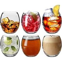 Argon Tableware Tondo Water/Whisky / Juice Tumbler Glasses - Gift Box of 6 Glasses - 405ml (14oz)