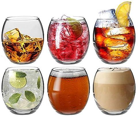 Verres à eau / à whisky / à jus de fruits d'Argon Tableware - Coffret-cadeau de 6 verres - 405ml (14oz)