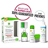 Lice Treatment Kit + Daily Prevention Conditioning Spray by Lice Clinics - Cure & Repel Lice with Complete Kit