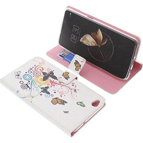 foto-kontor Tasche für Archos Diamond Gamma Book Style Schmetterlinge Schutz Hülle Buch
