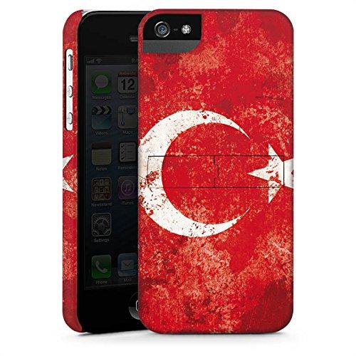Apple iPhone 5s Housse Étui Protection Coque Türkiye Turquie Drapeau CasStandup blanc
