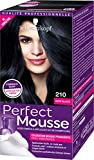 Schwarzkopf - Perfect Mousse - Coloration Mousse Permanente sans Ammoniaque - Noir Glace 210