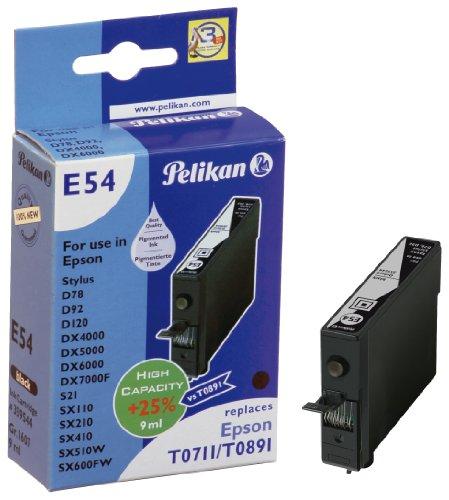 Pelikan Druckerpatrone E54 ersetzt Epson T07114011, Schwarz (pigment)