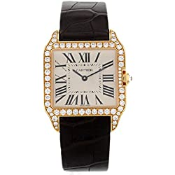 Cartier Santos Dumont WH100351 Factory Diamond 18K Rose Gold Quartz Ladies Watch