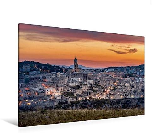 Premium Textile Toile de 45 cm x 30 cm paysage Matera avec les Sassi – Italie   Outlet Online Store