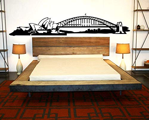 Sydney Skyline Wandtattoo Aufkleber Vinyl Wandbild Schlafzimmer Wohnzimmer Küche Kunst Australien abnehmbare Tapete 115X21Cm