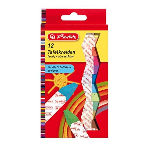Preisvergleich Produktbild Herlitz Tafelkreide, 12 Stück in Hängepackung, farbig sortiert