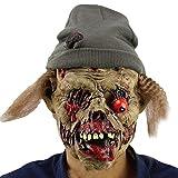 Xinwcanga Halloween Horror Máscaras Viejo Demonio Látex Terror Diablo Enmascarar Disfraces Traje Prop (Marrón, Talla única)