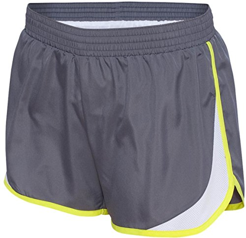 Augusta - Short de sport - Femme Multicolore - Graphite/White/Power Yellow