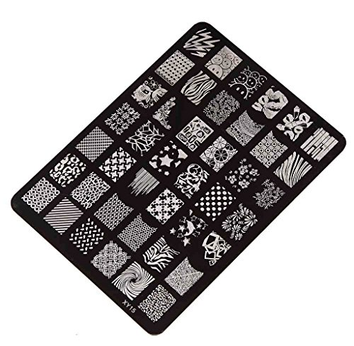 Ularma Moda Decoracion manicura uñas Nail stamping Printing Plate Placa de sellos xy-15 imagen