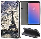 Samsung Galaxy S3 / S3 Neo Hülle Premium Smart Einseitig Flipcover Hülle Samsung S3 Neo Flip Case Handyhülle Samsung S3 Motiv (1452 Eifelturm Paris Frankreich Seine)