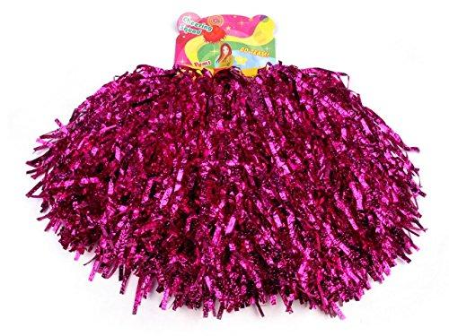2 Stück Pompons Cheerleading Cheerleader Tanzwedel Puschel 1 Paar viele Farben (Pink)