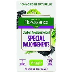Floressance Phytothérapie Digestion Végétale Spécial Ballonnements Charbon/Angélique/Fenouil 45 Gélules - Lot de 4