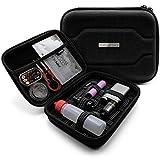 VapeHero® E-Zigarette Tasche mit Premium Matte zum herausnehmen | Dampfer Etui für Liquid Flaschen und Zubehör | Passend für große Mods 18650 Akku | Stoßfest