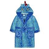 Minikidz Jungen Neuheit, Gedruckt Morgenmantel Bademäntel 2-6 Jahre - Blau Drachen, Größe 98