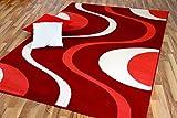TrendLine Teppich Modern Corall Creme Retro 5 Größen