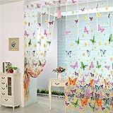 Best Elégant Home Fashions Home Fashion Rideaux - Windows, rideaux Squarex Papillon Rideau Sheer Tulle fenêtre Review