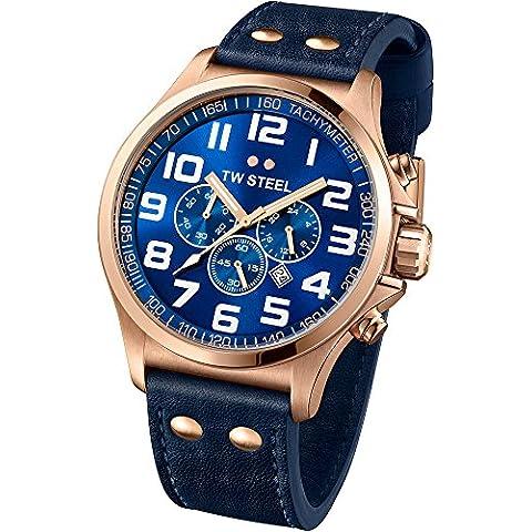 TW STEEL TW407 - Reloj de cuarzo para hombres, color azul oscuro