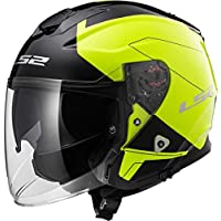 LS2 Casco Moto of521 infinity Beyond, Black Hi-Vis Yellow, ...