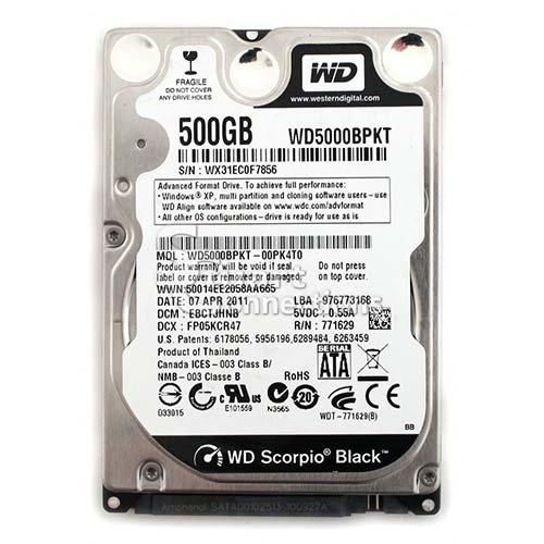 Western Digital 500GB WD5000BPKT Black Internal Hard Drive 2.5 inch 7200 rpm 16MB cache SATA 500-gb-digital-multimedia