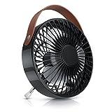 CSL–ventilateur USB | Ventilateur de table/USB desk fan/Ventilateur de bureau | Silencieux/Max. 48dB (a) | Interrupteur d'allumage/veille | inclinable Env. 30° | 2200Par Minute (RPM) | Noir