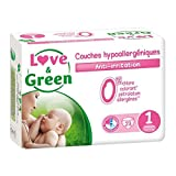 Couches jetables écologiques Love & Green Taille 1 NAISSANCE 2-5kg