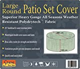 Large Round Patio Garden Table Set Polyester Cover 250 cm, Black, Weatherproof Patio #KC03 #102500 (Black)