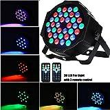 AONCO Luz de Escenario Par LED Luz de Discoteca, 36W 36LED RGB Soporte de modo sonido maestro automático DMX512 7 canales proyector Luz Lámpara Etapa luz ambiental para Disco, KTV, Bar