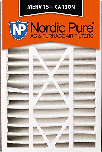 Nordic Pure 16x25x5 (4-7/8 Actual Depth) MERV 15 Plus Carbon Trion Air Bear Replacement AC Furnace Air Filter, Box of 1