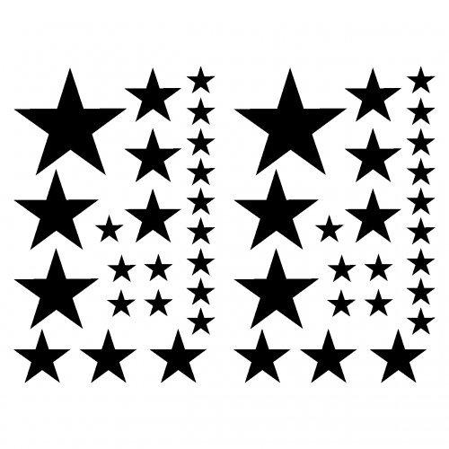 Estrella etiqueta conjunto el relleno de pegatinas
