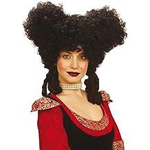 La edad media clásica negra de estilo barroco y rococó de la peluca para mujer