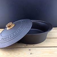 Netherton Foundry hierro fundido cacerola y tapa para uso en cocinas y lento cocinas