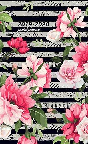 2019-2020 Pocket Planner: Cute Zig Zag Floral Pocket Planner with Phone Book, Password Log and Notebook. Nifty 24 Month Rose Floral Planner and Organizer. por Nifty Notes