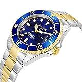 """Gigandet Herren Automatik-Armbanduhr """"Sea Ground"""" Analog Edelstahlarmband Blau Gold G2-001 - 2"""