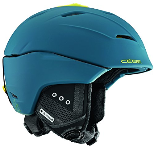 Cébé Atmosphere 2.0 Skihelm, Matt Petrol/Lime, 55-58 cm