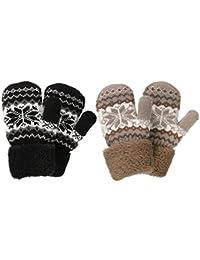kimmyku Guantes Para niñas manoplas para niños guantes de invierno 4567 años