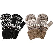 24fe95391f67 Gants d hiver Belles Petites Moufles tricotés pour Enfants Filles Garçons  2345ans