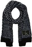 Calvin Klein Damen Schal J Mary Heavy Knit Scarf, Schwarz (Black/Powder White/Ombre Blue 910), One Size