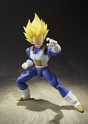 S.H. Figuarts Dragon Ball Z Super Saiyan Super Vegeta 13.5 cm aprox. PVC & ABS Painted Action Figure [Japan] , color… 5