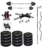 #4: BodyGrip Pvc 24 Kg Adjustable Fitness Dumbells Set Home Gym