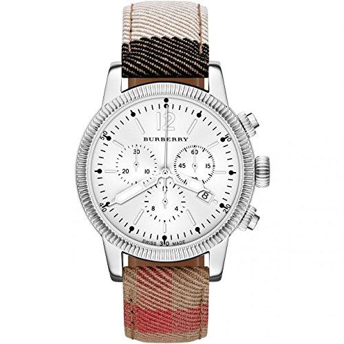 Burberry donna 42mm multicolor tela fascia in acciaio di orologio al quarzo BU7820