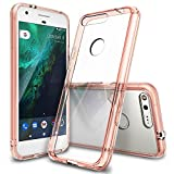 Ringke Fusion Coque Compatible avec Google Pixel XL, Transparente Étui Anti-Choc Protection - Or Rose
