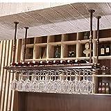 Wine rack too Weinregal Weinkühlschrank Ausstellungsstand Eisenkunstaufhängung Bar-Restaurant im europäischen Stil Auslage (Farbe : C, größe : 80cm)