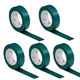 5 rouleaux VDE Ruban Isolant Électrique Bande Isolatrice PVC 15mm x 10 DIN EN 60454-3-1 couleur: vert