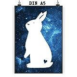 Mr. & Mrs. Panda Poster DIN A5 Kaninchen Hase - 100% handmade in Norddeutschland - Wanddeko, zahm, Löwenzahn, Geschenk, Haustier, Poster, Kaninchen, Häschen, Papier, Hase, Bild, Wandposter