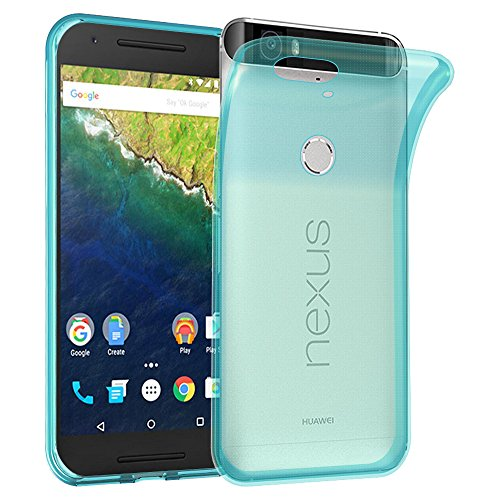 Cadorabo Hülle für Huawei Nexus 6P - Hülle in TRANSPARENT BLAU – Handyhülle aus TPU Silikon im Ultra Slim 'AIR' Design - Silikonhülle Schutzhülle Soft Back Cover Case Bumper