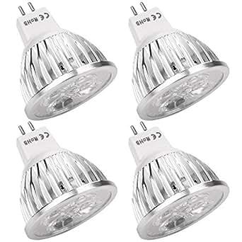 Dealgadgets 4 X LED ampoule led mr16 60SMD 3528LED LED lampe Blanc froid